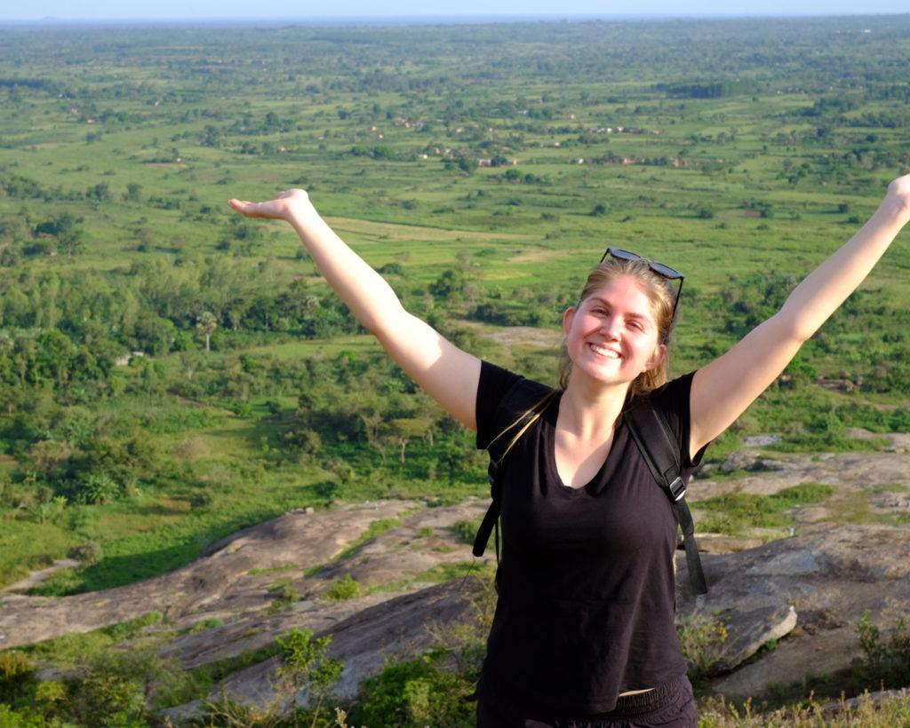 Caitlin on Jim's Rock